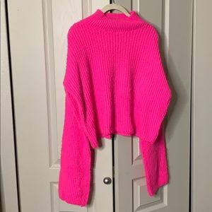 Pink Missguided mock neck sweater